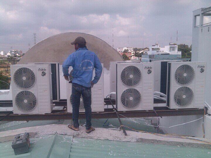 Lắp đặt dàn nóng máy lạnh quận 2