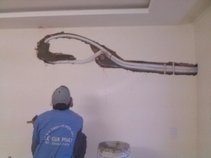 Âm tường đường ống dẫn lạnh